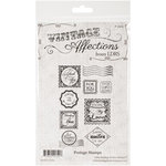 LDRS Creative - Sentiments Collection - Cling Mounted Rubber Stamps - Postage Stamps
