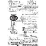LDRS Creative - Sentiments Collection - Cling Mounted Rubber Stamps - Girlfriends