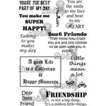 LDRS Creative - Sentiments Collection - Cling Mounted Rubber Stamps - Best Friends