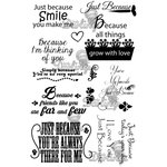 LDRS Creative - Sentiments Collection - Cling Mounted Rubber Stamps - Just Because
