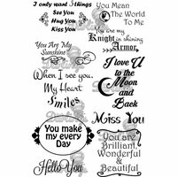 LDRS Creative - Sentiments Collection - Cling Mounted Rubber Stamps - You