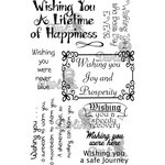 LDRS Creative - Sentiments Collection - Cling Mounted Rubber Stamps - Wishing You