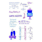 LDRS Creative - Sentiments Collection - Cling Mounted Rubber Stamps - Celebrate
