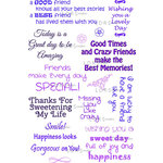 LDRS Creative - Sentiments Collection - Cling Mounted Rubber Stamps - Friendly