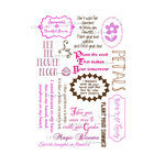 LDRS Creative - Sentiments Collection - Cling Mounted Rubber Stamps - Summer Garden