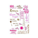 LDRS Creative - Sentiments Collection - Cling Mounted Rubber Stamps - Summer Fun