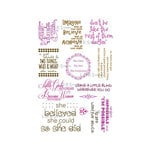 LDRS Creative - Sentiments Collection - Cling Mounted Rubber Stamps - Amazing Girls