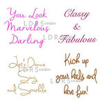 LDRS Creative - Sentiments Collection - Cling Mounted Rubber Stamps - Uptown Sayings