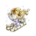 LDRS Creative - Little Darlings Collection - Cling Mounted Rubber Stamps - Winter Fun