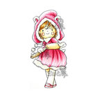 LDRS Creative - Little Darlings Collection - Cling Mounted Rubber Stamps - Little Bear
