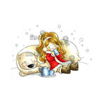 LDRS Creative - Little Darlings Collection - Cling Mounted Rubber Stamps - Winter Cuppa
