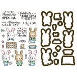 LDRS Creative - Designer Dies and Rubber Stamps - Garden Bunny