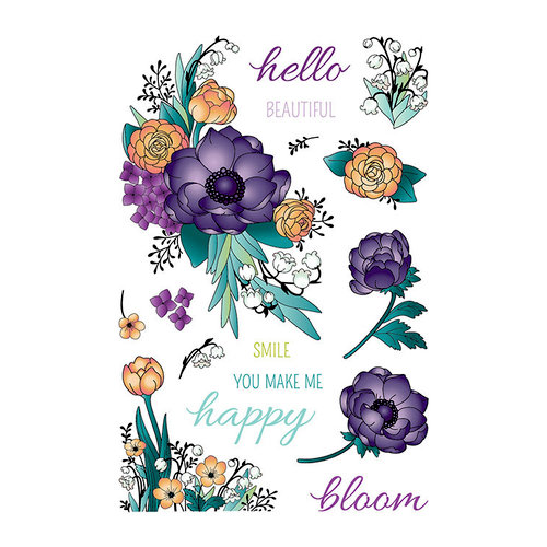 LDRS Creative - Clear Photopolymer Stamps - Beautiful Blooms