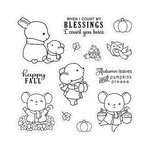 LDRS Creative - Happy Fall Collection - Clear Acrylic Stamps - Character
