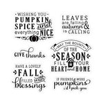 LDRS Creative - Happy Fall Collection - Clear Acrylic Stamps - Sentiments