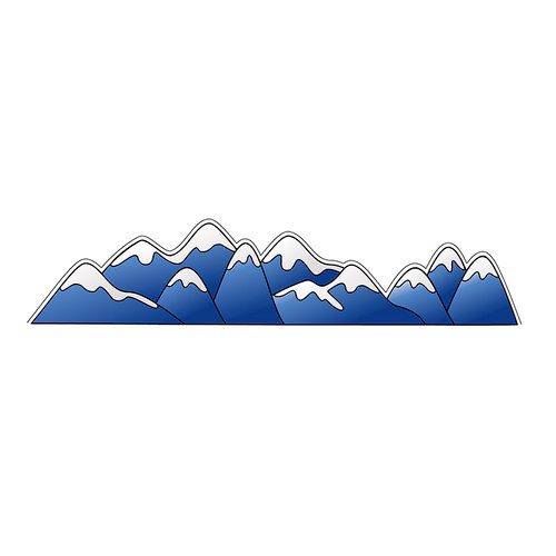 LDRS Creative - Clear Acrylic Stamps - Mountains