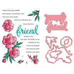 LDRS Creative - Designer Dies and Clear Acrylic Stamps - If Friends Were Flowers