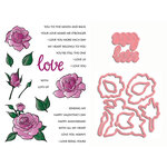 LDRS Creative - Designer Dies and Clear Acrylic Stamps - Love And Smell The Roses