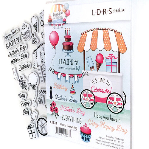 LDRS Creative - Cling Mounted Rubber Stamps - Happy Everything