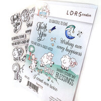 LDRS Creative - Cling Mounted Rubber Stamps - Thank Ewe
