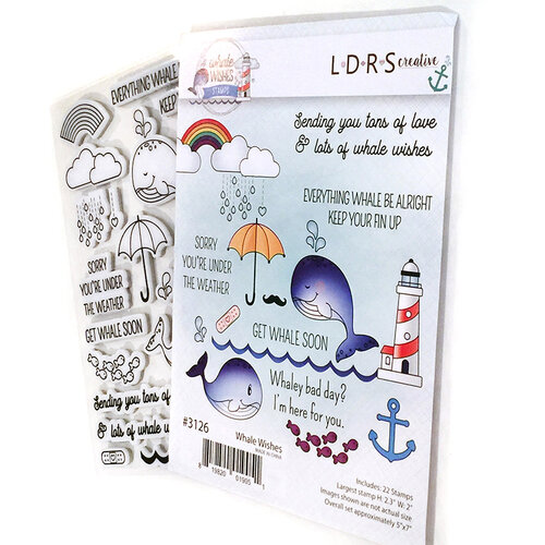 LDRS Creative - Cling Mounted Rubber Stamps - Whale Wishes
