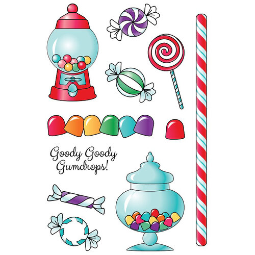 LDRS Creative - Clear Photopolymer Stamps - Goody Gumdrops