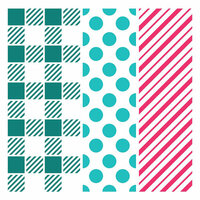 LDRS Creative - 6 x 6 Stencil - Playful Patterns
