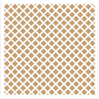 LDRS Creative - 6 x 6 Stencil - Waffle Cone