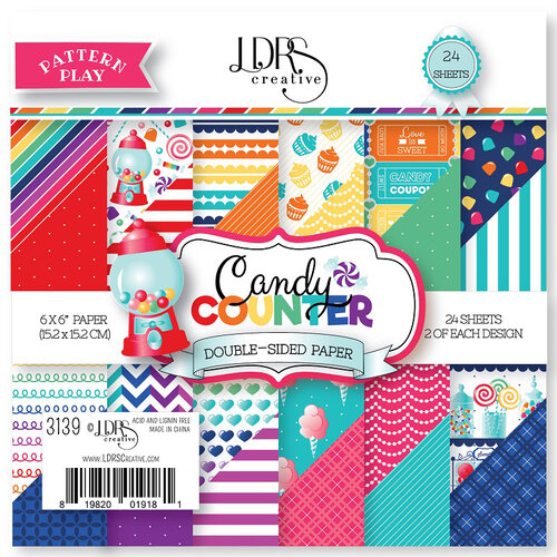 LDRS Creative - Pattern Play - Candy Counter - 6 x 6 Paper Pad