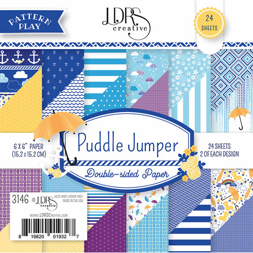 LDRS Creative - 6 x 6 Paper Pack - Puddle Jumper