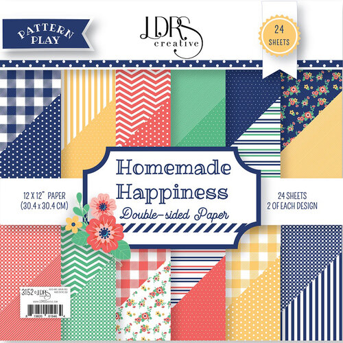 LDRS Creative - Pattern Play - Homemade Happiness - 12 x 12 Paper Pad