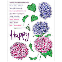 LDRS Creative - Clear Photopolymer Stamps - Hydrangeas