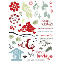 LDRS Creative - Clear Photopolymer Stamps - Petal Pusher - Cardinal Seasons