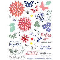 LDRS Creative - Clear Photopolymer Stamps - Petal Pusher - Sunny Meadow
