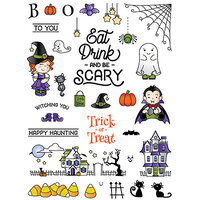 LDRS Creative - Clear Photopolymer Stamps - Happy Haunting
