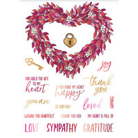 LDRS Creative - Open Hearts Collection - Clear Photopolymer Stamps - Heart Wreath
