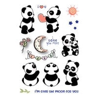 LDRS Creative - Open Hearts Collection - Clear Photopolymer Stamps - Panda Play