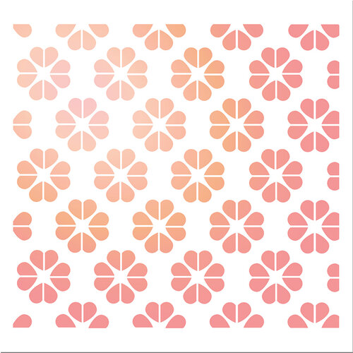 LDRS Creative - Open Hearts Collection - 6 x 6 Stencil - With All My Heart