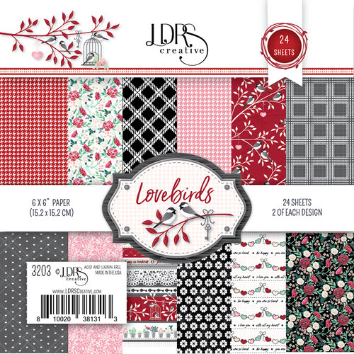 LDRS Creative - Open Hearts Collection - 6 x 6 Paper Pack - Lovebirds