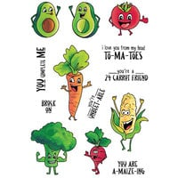 LDRS Creative - Clear Photopolymer Stamps - Veggie Pals