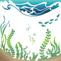 LDRS Creative - 6 x 6 Stencil - Under The Sea