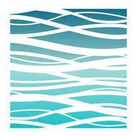 LDRS Creative - 6 x 6 Stencil - Ocean Waves