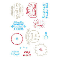 LDRS Creative - Clear Photopolymer Stamps - Snowflakes and Blizzards