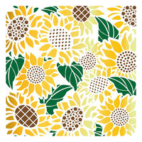 LDRS Creative - Stencils - Sunflower