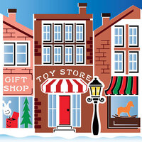 LDRS Creative - Stencils - Christmas on Main Street