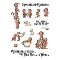LDRS Creative - Clear Photopolymer Stamps - Christmas - Gingerbread Kisses