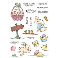 LDRS Creative - Clear Photopolymer Stamps - Hoppy Egg Hunt