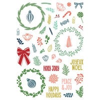 LDRS Creative - Pirouette Collection - Christmas - Clear Photopolymer Stamps - Peace and Joy