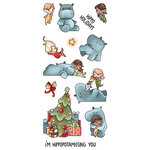 LDRS Creative - Clear Photopolymer Stamps - Hippopotamus For Christmas