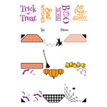 LDRS Creative - Clear Photopolymer Stamps - Halloween Gift Tag Stack